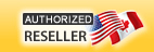 Quiet PC USA is a North American Authorized Reseller for the following PC component manufacturers. Image shows US and CAN flags.