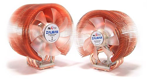 Image shows two Zalman CPU coolers.