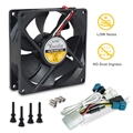 AcoustiFan DustPROOF Premium Quality Ultra Quiet Computer Fan - 92mm AFDP-9225B