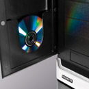 Image shows a CD in the neat CD pocket in the front door.