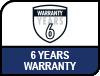 6 Years Warranty.