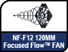 NF-F12 120mm Focused Flow Fan.