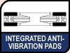 Image shows Integrated Anti-Vibration Pads logo.
