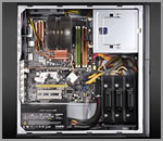 Image shows the Zalman HD500 series interior.