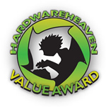 Image shows the Hardware Heaven Value Award.