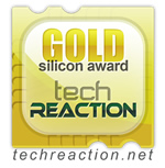 Image shows the Tech Reaction Gold Silicon Award.