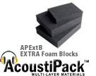 AcoustiPack EXTRA Foam Blocks for Sound Absorbing & Soundproofing