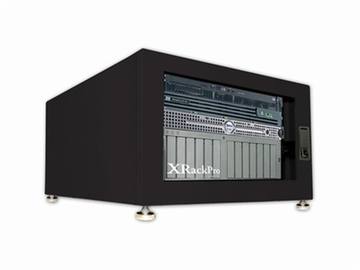 XRackPro2 6U Quiet Rackmount Server Cabinet Black