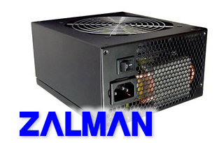 Image shows the Zalman ZM 500W power supply unit (PSU).
