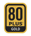 Image shows the 80 plus gold logo.