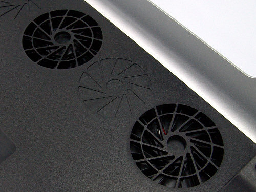 Underside view showing fans