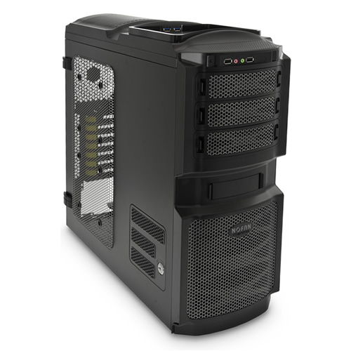 Image shows the NoFan CS-80 ATX Quiet Computer Case.