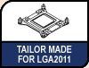 Image shows the Tailor made icon for the new LGA 2011 SecuFirm mounting kit.