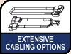 Image shows Extensive Cabling Options logo.