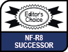 Image shows Succeeding the award-winning NF-R8 logo