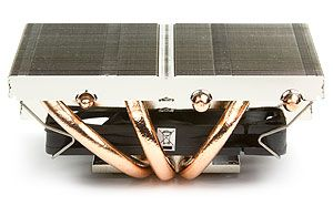 Image shows the Scythe Kozuti CPU Cooler heatpipe side view.