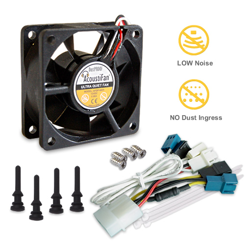 AcoustiFan DustPROOF Premium Quality Ultra Quiet Computer  Fan - 60mm AFDP-6025B