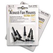 Acousti Ultra Soft Anti-Vibration Fan Mount AFM02B 8-pack