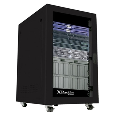 XRackPro2 25U Quiet Rackmount Server Cabinet Black